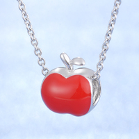 Red Apple Beautiful Big Hole Charm Hot Sale New Arrival Products Fashion 925 Necklace