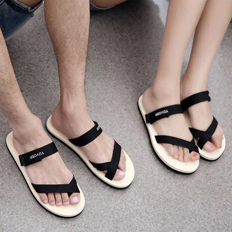 2017 New Summer Casual Couples Flat Beach Sandals Slippers Women Flip Flops Fashion Unisex Shoes Black White Red OR912829 women sandals hot fashion women casual shoes beach flip flops women shoes 2016 new summer chaussure femme black red size 3 5