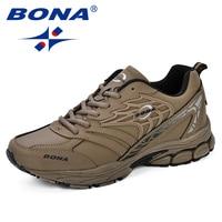 BONA Sneaker Men 2018 New Designer Atunmn Breathable Men Shoes Comfortable Trendy Male Shoes For Adult Fashion Men Casual Shoes