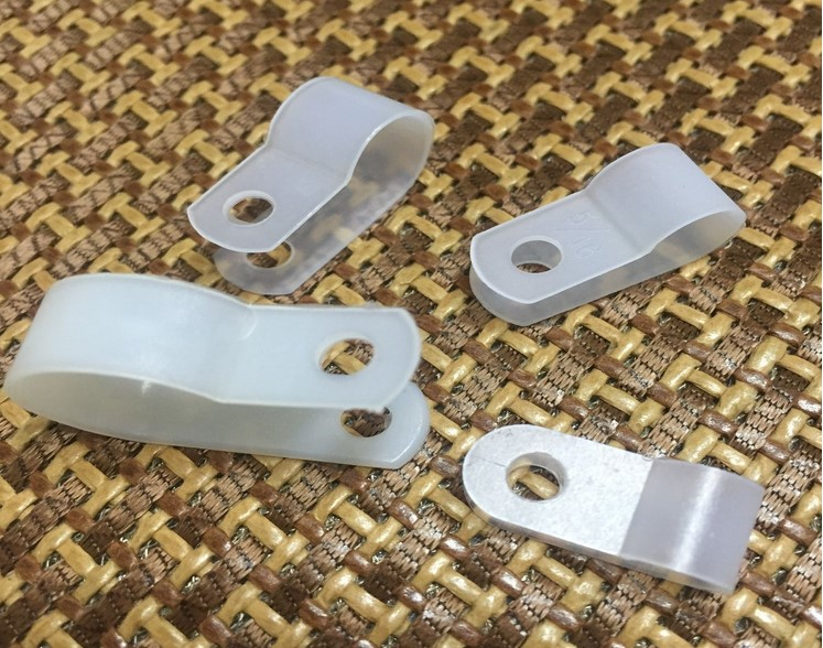 5.2mm computer case U type Cable Clamp / Cable Clips white