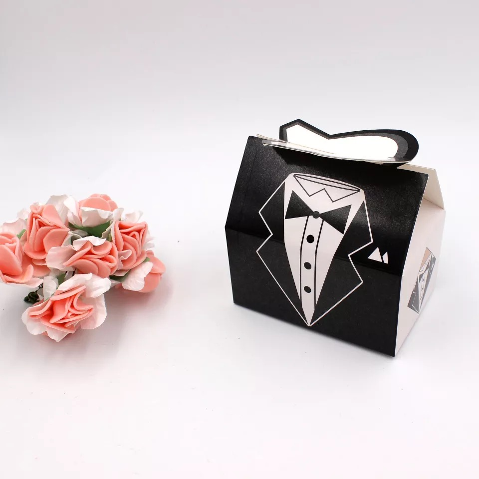 100pc new Elegant Candy Box For Wedding Sweet Bag Wedding Favors ...