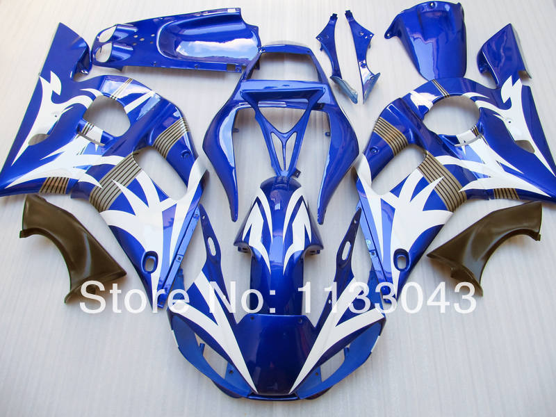 100%NEW blue white fairings for Yamaha YZF-R6 98-02 YZF R6 98 99 00 01 02 YZF 600 R6 199 ...