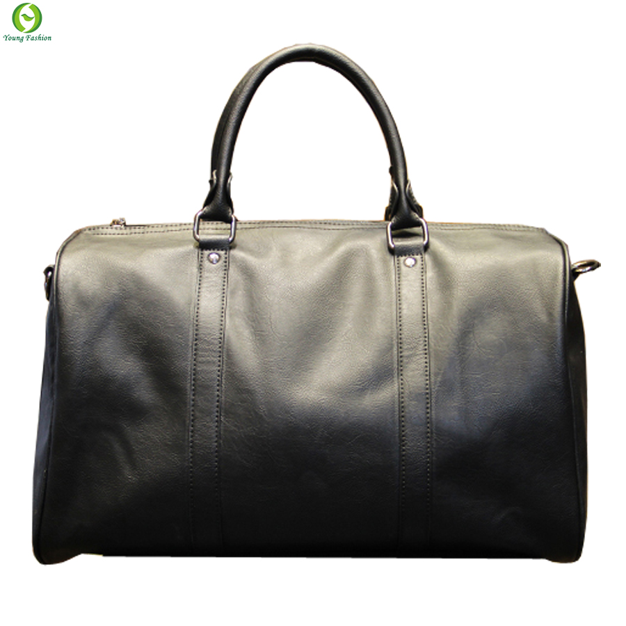 Fashion mens leather travel bag vintage duffle handbags ...