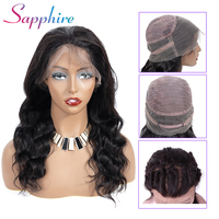 Sapphire Brazilian 360 Lace Frontal Wig For Women Remy Lace Front Human Hair Wigs Body Wave With Baby Hair Natural Hairline
