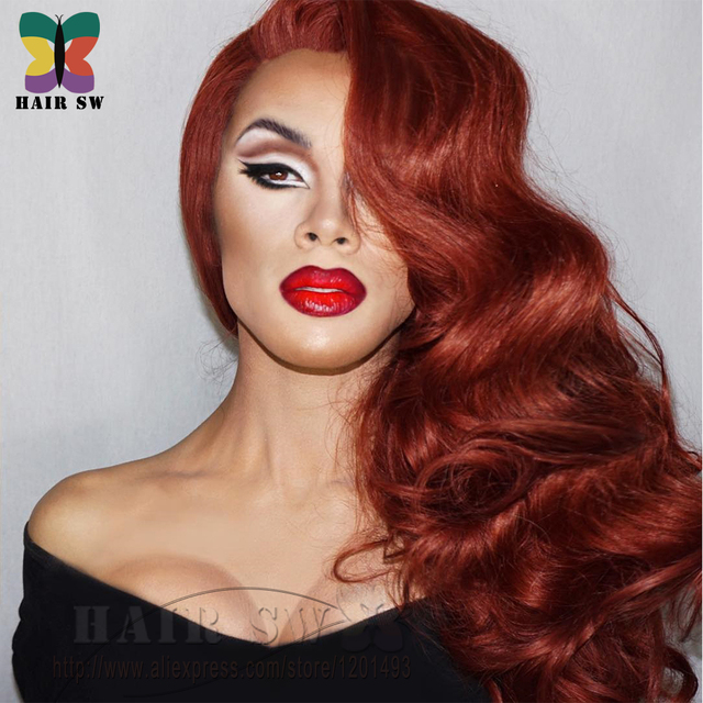 Jessica Rabbit Lace Front Invisible Part Wig Cosplay Drag Queen Sexy