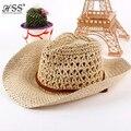 De ala ancha de paja sombrero de vaquero Masculino y femenino par de verano sol playa sombrero