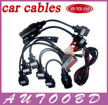 DHL Free Adapter Cables For CDP Pro OBD OBD2 OBDII OBD II Cars Diagnostic Interface Tool Full set 8PCS Car Cables For TCS CDP