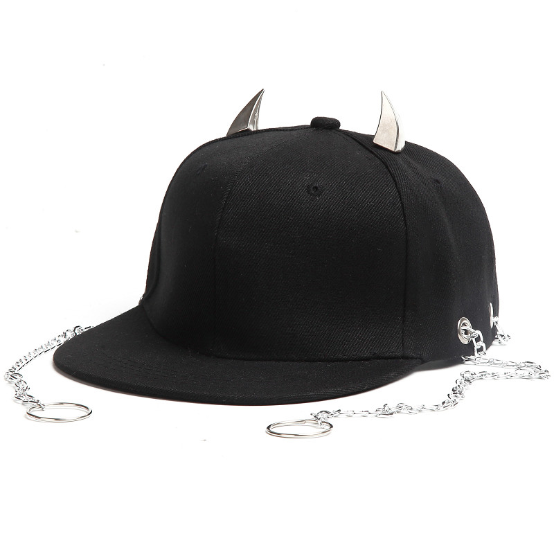 Chain Hip Hop Bone Caps for Men and Women Outdoor Casual Hat with Rings Sun Hat Adjustable Cotton Baseball Cap Unisex Punk Hats ai lianxin new women doctors and nurses surgical caps hat cotton cap and short hair with sweatbands alx 114