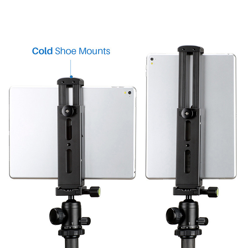 Tablet PC Tripod Stand Aluminum Holder with Quick Release Plate for iPad Mini/4/Pro/Surface Pro XXM8 aluminum tablet pc stand holder for ipad pro ipad new 2018 air 2 mini 4 surface pro 4 3 docking station cradle anti skid silver