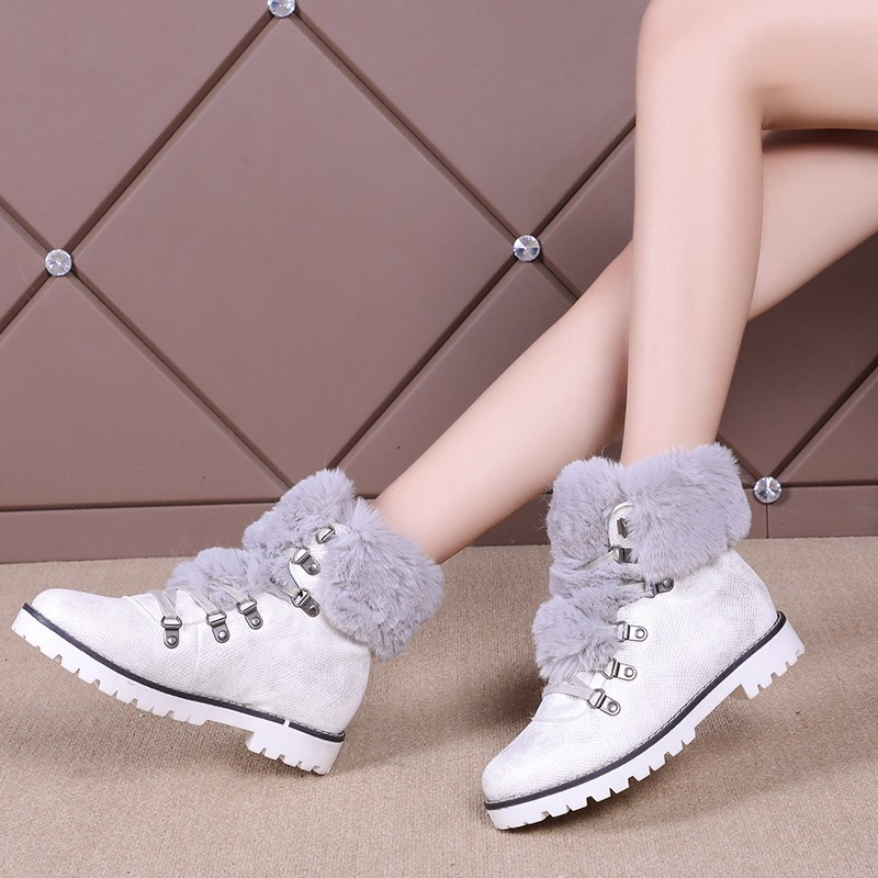 Nieve De Negro blanco Mujeres Mujer Velver Cómodo Nueva Botas Invierno Zapatillas Felpa Piel 2019 Casual marrón Zapatos Lana qwtCAFF