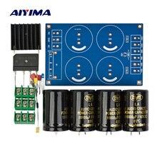 """Aiyima усилитель, выпрямитель фильтровальная пластина 4x10000 мкФ большой конденсатор с алюминиевой крышкой, полный мост фильтр сабвуфер усилитель DC """"сделай сам"""""""