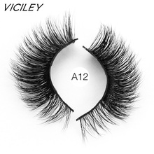 VICILEY Mink Eyelashes Long Thick Dramatic Lashes Handmade Fur False cilios posticos 3d mink lashes  A12