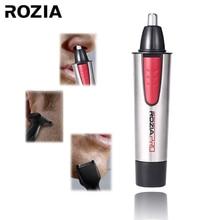 ROZIA Hot Sale Unisex cabelo barbeador Remoção Rosto Cuidados Pessoais Aço Inoxidável Nose Hair Trimmer Clipper Shaver