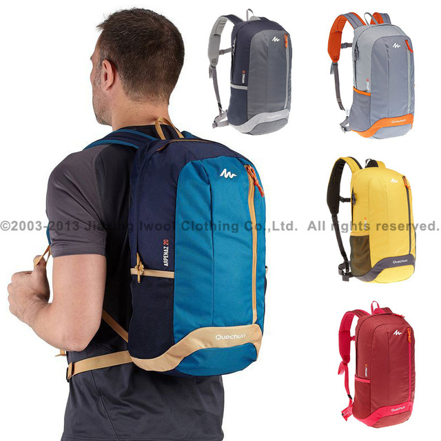 c92bb0efb Quechua hombres mujeres senderismo backbags eropean bolsas de viaje duffle  bag 20L montaña deporte bagrucksack rugzak