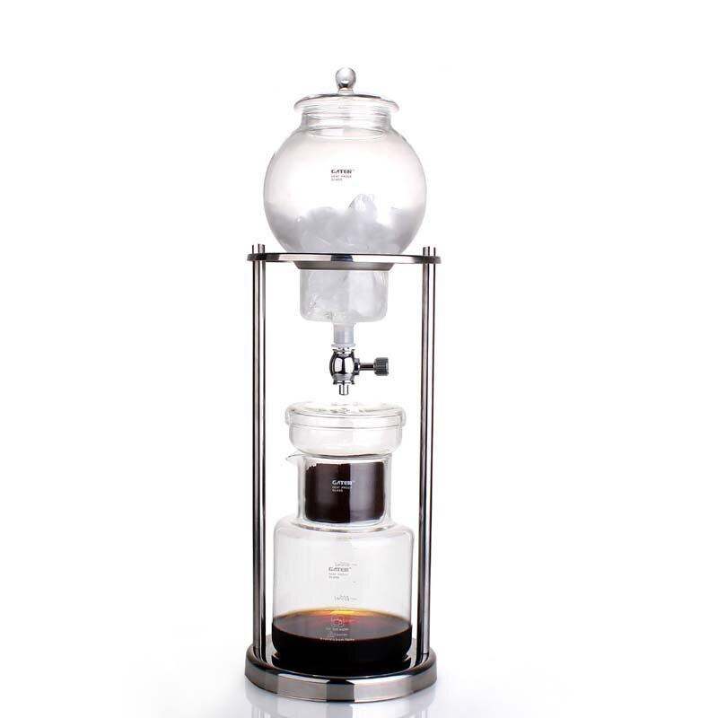 Café néerlandais goutte à goutte d'eau froide goutte à goutte fabricant de brassage 600 ml café domestique filtres réutilisables 304 acier inoxydable Piller