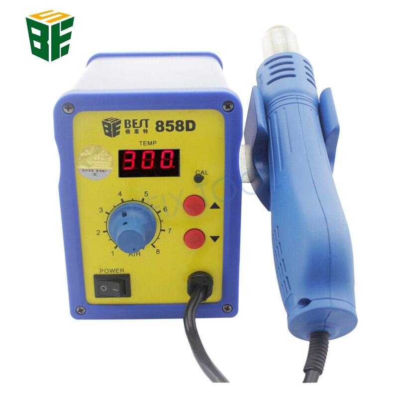 цена на Temperature Adjustable Lead Screw Type Hot Air Gun Rework Station Desoldering Welding Tool BEST-858D