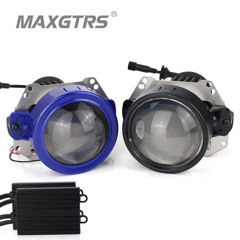 2017 New MAXGTRS Auto Bi-LED Projector Lens Headlight Universal Type 35W LHD RHD LHD LED Headlight Car-Styling Retrofit Kit