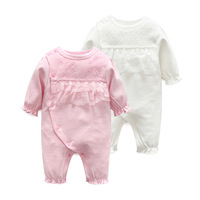 2Pcs Newborn Romper Baby Clothes Autumn Summer Cotton Baby Rompers Kids Baby Girls Clothing Sets Lace