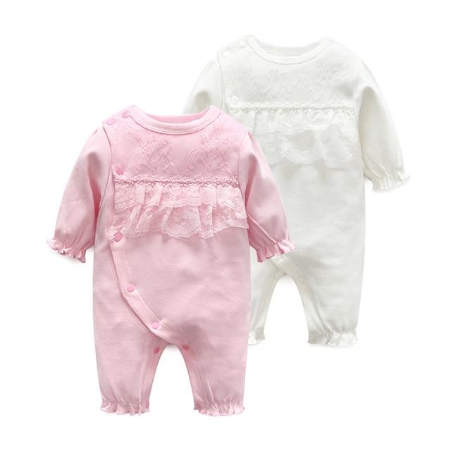 c408d1dd853f 2Pcs Newborn Romper Baby Clothes Autumn Summer Cotton Baby Rompers ...