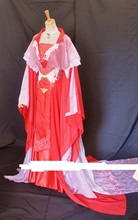 Red White Lace Wedding Costume Set for Bride and Groom Couple Wedding Suit Dragon Pattern Costume Hanfu Stage Peformance Costume
