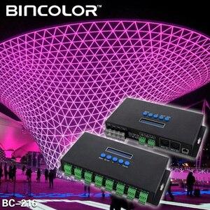 Image 4 - جديد Artnet إيثرنت إلى SPI/DMX بكسل مصباح ليد تحكم BC 216 DC5V 24V 3Ax16CH دعم Artnet/Artnet و sACN E.1.31 بروتوكول