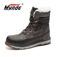 Mynde Men Boots Waterproof Men Footwear Boots 2018 Winter Snow Boots Fur Breathable Fashion Winter Ankle Boots zapatos hombre