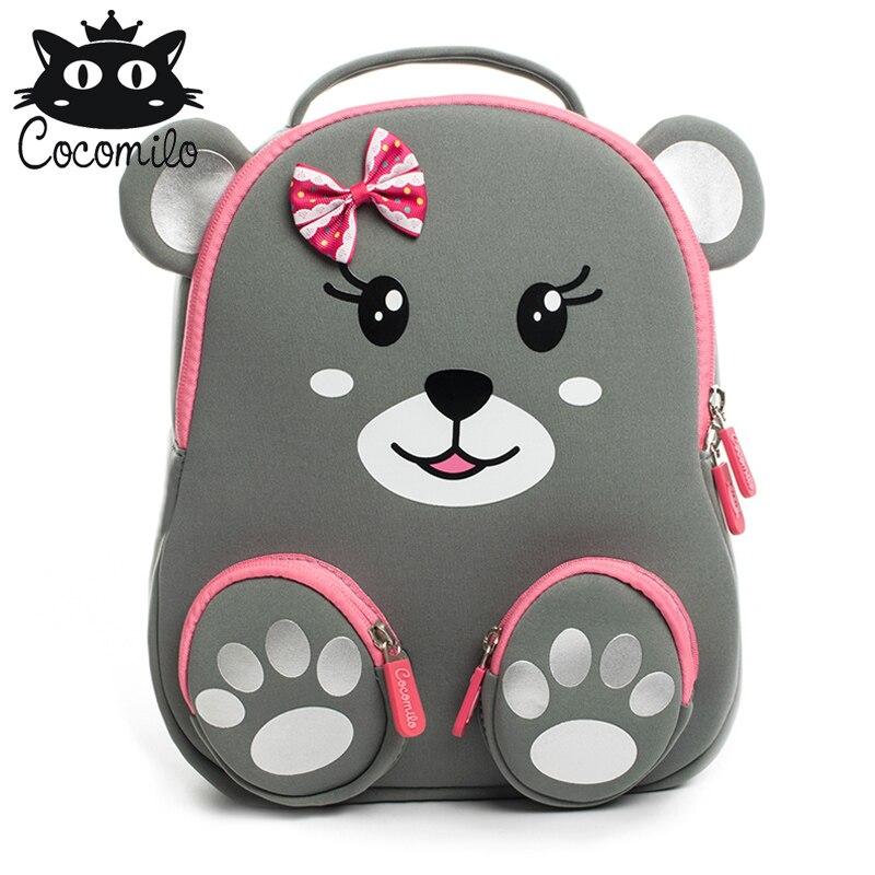 New Animal Kid Backpack For Girls Boys Bear Bee Pattern School Bags Children's Kindergarten Backpacks Mochila Infantil 2-6 Years