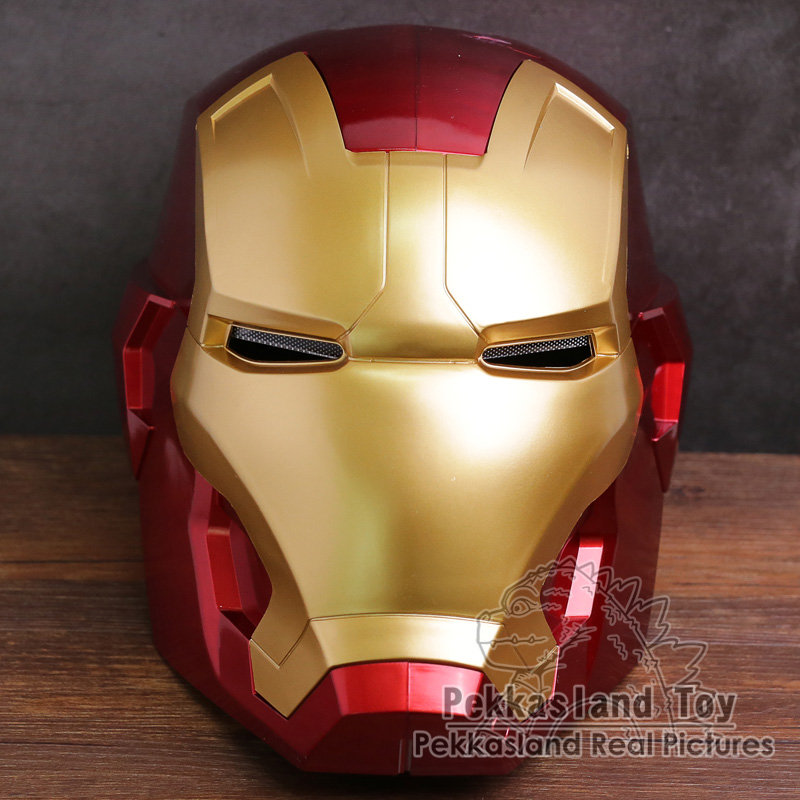 Iron Man Adult Cosplay Helmet Touch Sensing Mask with LED Light Collectible Figure Model Toy future warrior mask breathable full face mask terminator helmet halloween cosplay horror human skeleton helmet halloween props