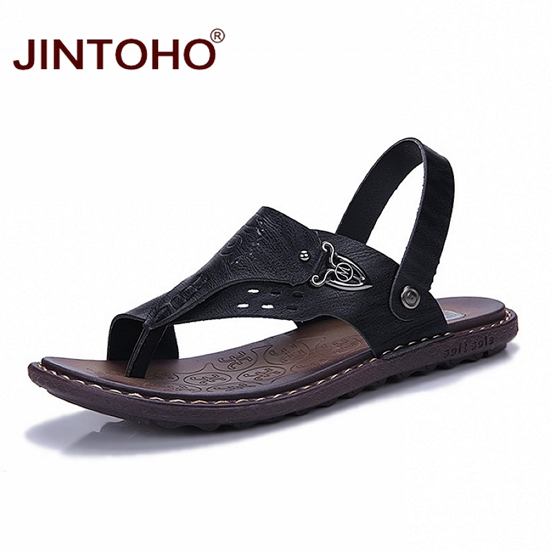 JINTOHO Sandals Slippers Men Shoes Designer Casual Fashion Summer Beach Mens Brand