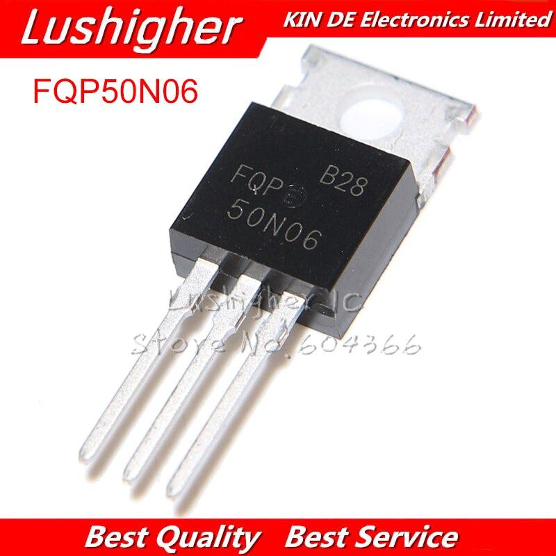 10pcs FQP50N06 50N06 MOSFET TO-220