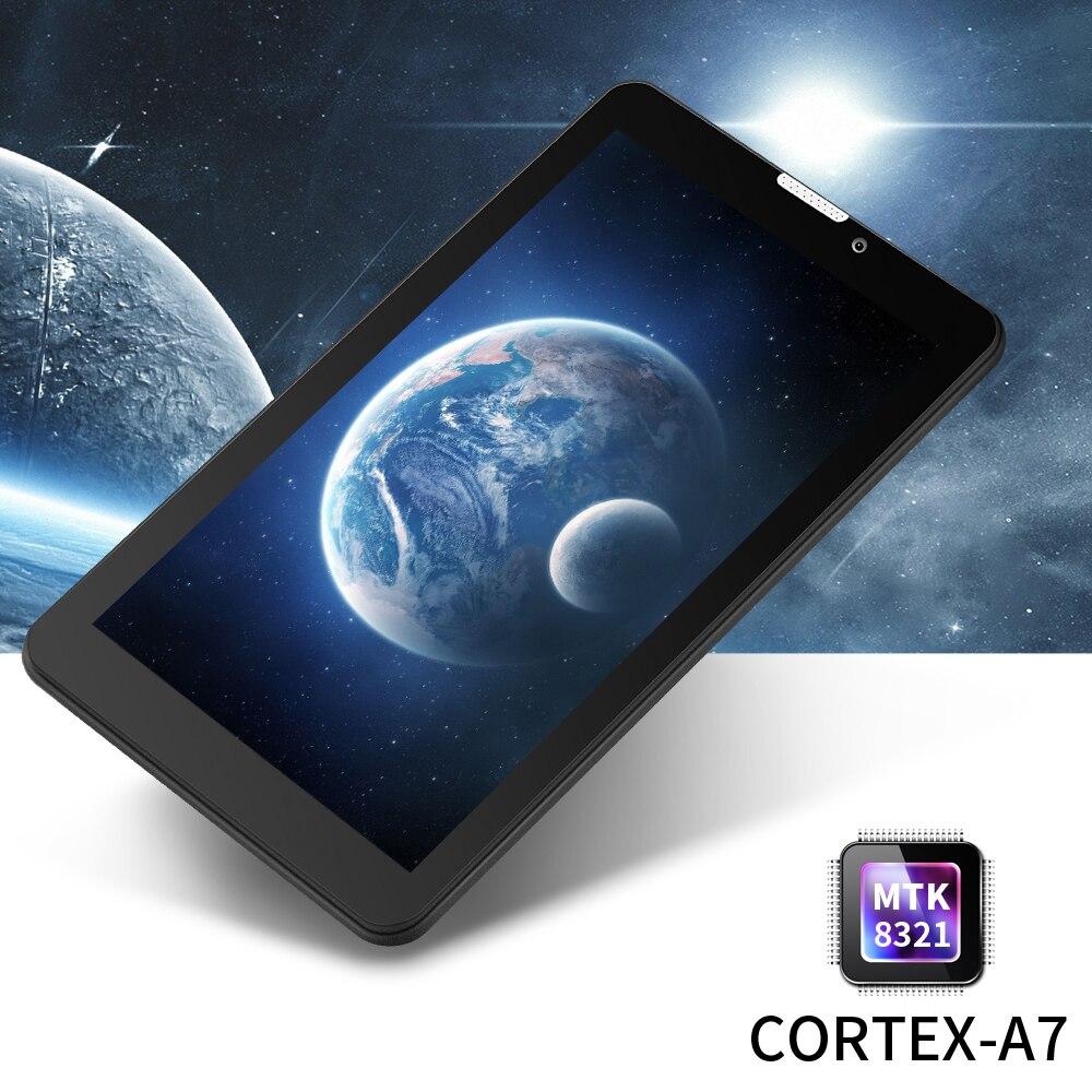 Yuntab E706 negro 7 pulgadas Tablet PC de Pantalla Táctil 1024*600 del Androide 5.1 de la Tableta de Doble Cámara Quad Core WiFi/Bluetooth