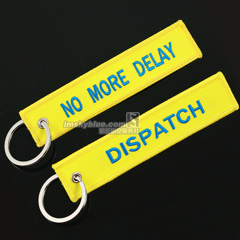 Yellow Dispatch Tag with No More Delay Travel Luggage Bag Tag for Flight Crew Aviation Lover Fly People