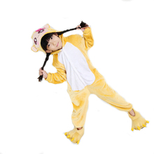 winter flannel animal cosplay monkey pajamas onesie funny halloween costume for kids children girls boys