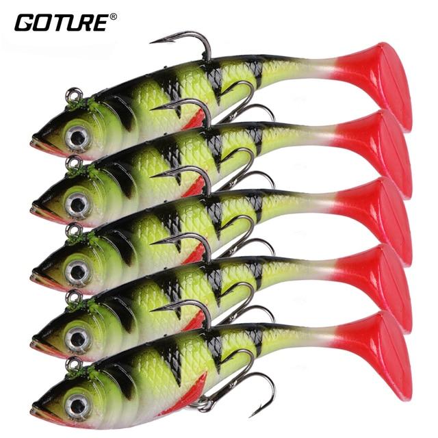 Goture 5pcs/lot 11g 8.5cm Soft Lure Artificial Bait Luminous Lead Fishing Jig Wobblers Fishing Lure Sea Fishing Hook Pesca