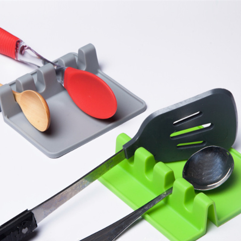 Kitchen Cooking Tools Kitchen Silicone Spoon Rest Utensil Spatula Holder Heat Resistant