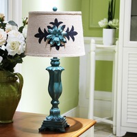 Pastoral Classic Table Lamps Living Room Bedroom Bedside Study Creative Resin Wedding Green Decoration Lighting Table