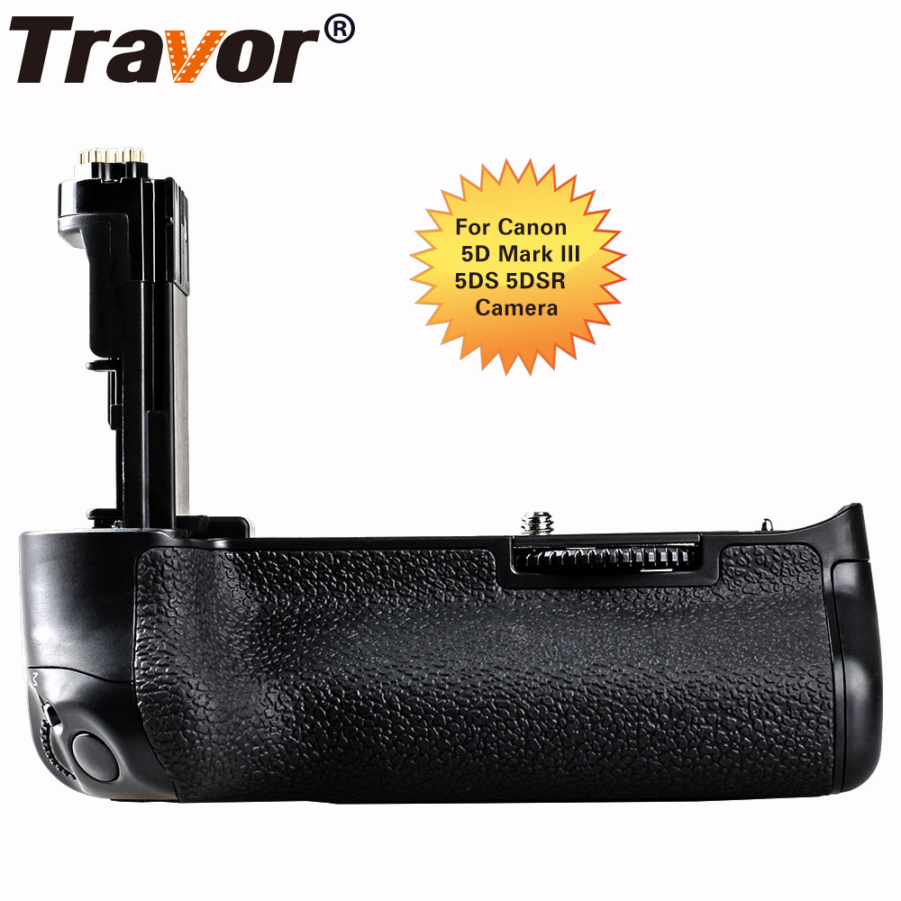 Travor Professional Multi Power Battery Grip for Canon 5D Mark III 5D3 5DS 5DSR cameras as BG-E11 work with LP-E6 Battery dste lp e6 7 4v 2600mah decoded li ion battery for e0s 5d mark ii e0s 5d mark iii more black