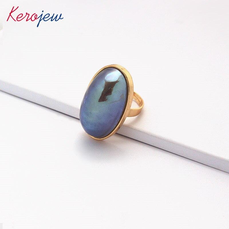 Erfinderisch Korean Fashion Big Ringe Für Frauen Aliexpress Erklärung Zubehör Zink-legierung Gold Farbe Simulierte-perle Mosaik Party Ring Schmuck & Zubehör