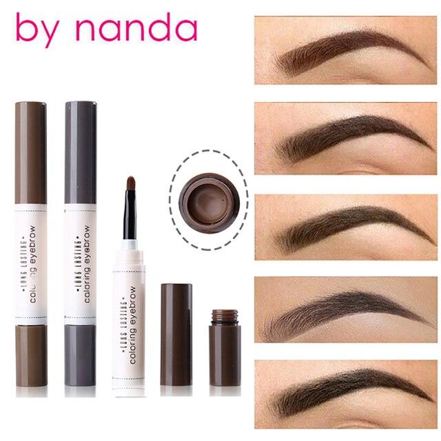 By Nanda Tattoo Dye Cream Eyebrow Pencil Tint Waterproof With Makeup