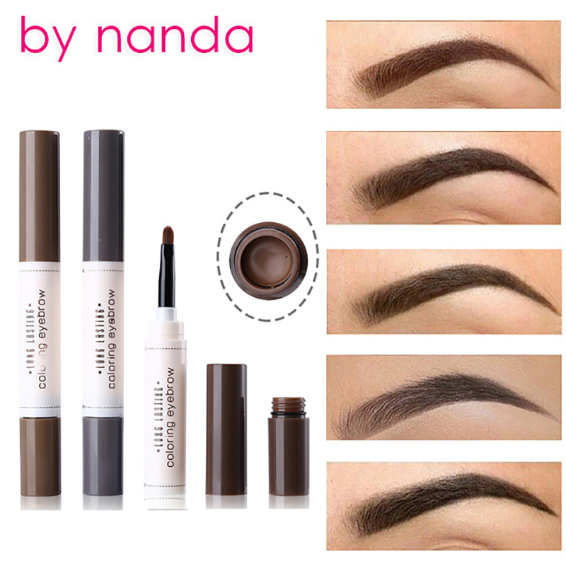 BY NANDA Tattoo Dye Cream Eyebrow Pencil Tint Waterproof with Brush Cosmetic Long Lasting Henna Eye Brow Maquiagem For eyebrows