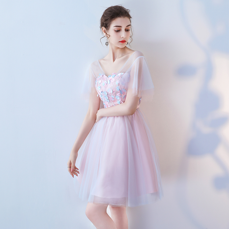 New arrival fairy short lady girl women princess bridesmaid banquet party ball promdress gown