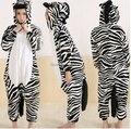 Животных взрослый костюм зебры Onesie пижамы хэллоуин карнавал маскарад ну вечеринку комбинезон одежда