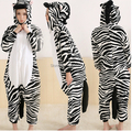 Animal Adult Costume Zebra Onesie Pajama Halloween Carnival Masquerade Party Jumpsuit Clothing