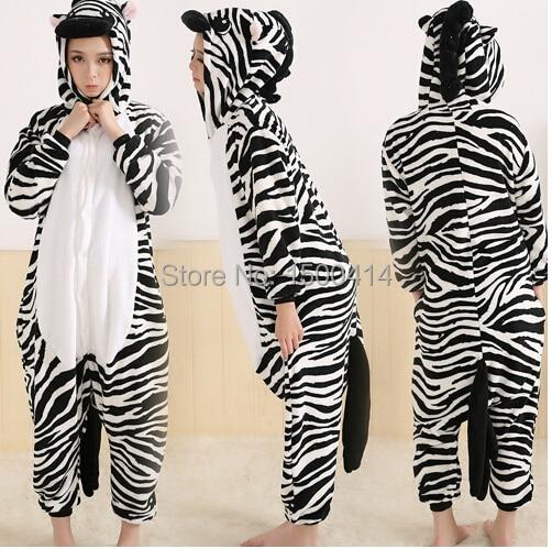 Animal Adult Costume Zebra Rompertjes Pyjama Halloween Carnaval - Carnavalskostuums - Foto 1