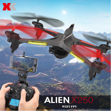 Original xk x250 drones dron wifi fpv hd 720 p de la cámara 2.4g 5.8G 4CH 6 Axis Gyro RC Quadcopter Headless Modo RC Helicóptero
