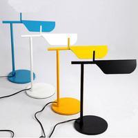 modern Simple Italian Designer Iron Led Table Lamp For Bedroom Living Room Study H 40cm 5 Colors Light 1615