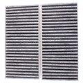 Grupos de 2 Carbon filtro de aire gris blanco para Honda Civic híbrido CR-V elemento 2002-2006 envío gratis