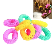 New Hot Sale 6/8Pcs Convenient Hair Magic Curler Rollers Spiral Curls Hair Styling DIY Tools 9IL A4TA