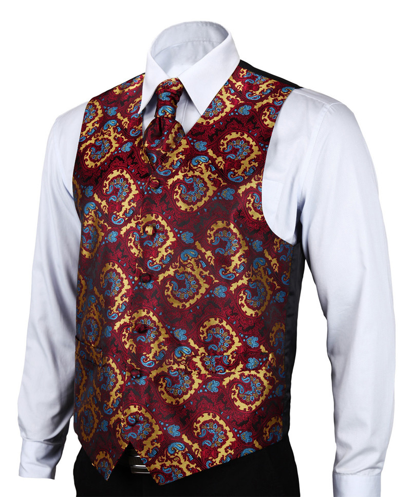 VE17 Burgundy Blue Paisley (2)