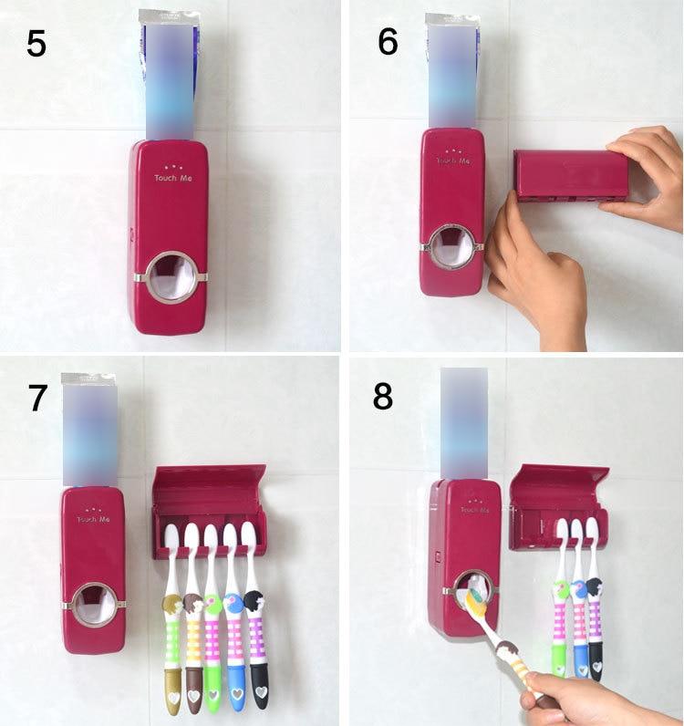 toothpaste dispenser installation 5-8 asontvstore.com